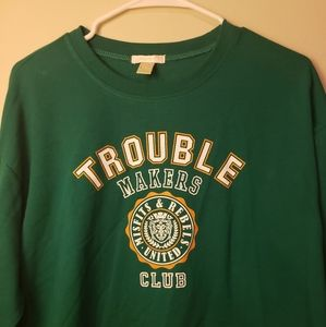 Cropped trouble maker sweater
